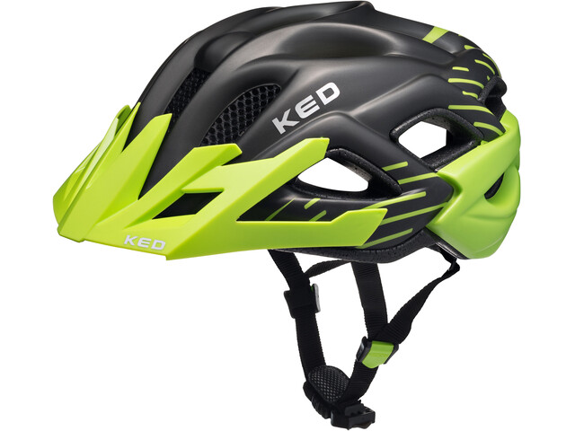 KED Status Helmet Junior Green Black Matt